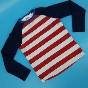 Boden Boy's 9-10 Striped Long Sleeve T-shirt